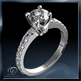 Picture of 0.85 carat open Pave diamonds engagement ring