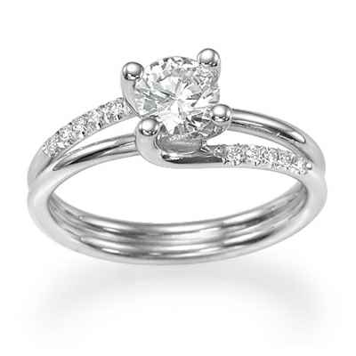 The Omega diamond engagement ring