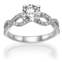 Picture of Slalum engagement ring diamonds encrusted