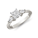 Picture of Pear sides engagement ring