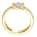 Picture of Like tension engagement ring diamond encrusted