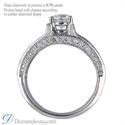 Picture of Split band engagement ring with round diamonds