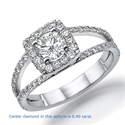 Picture of Split band Halo engagement ring