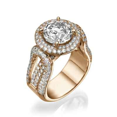 Tailored to your diamond engagement ring,1.90 cts sides