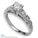Picture of Round side stones engagement ring