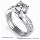 Picture of Twisted engagement ring with side Diamonds