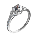 Picture of Engagement ring settings with side diamonds
