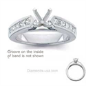 Picture of Engagement ring set with 0.8Cts diamonds