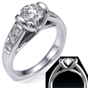 Picture of Like tension engagement ring with 1/4Cts sides