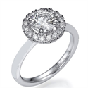 Picture of Halo ring head engagement ring