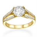 Picture of Designers 2 V round diamonds engagement ring
