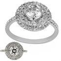Picture of Double Halo Engagement ring