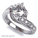 Picture of Designers wrap-around engagement ring settings