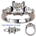 Picture of Engagement ring with Pear Shape side diamonds