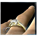 Picture of Diamonds Criss Cross engagement ring