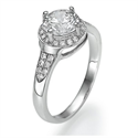 Picture of One row Halo for bigger diamonds
