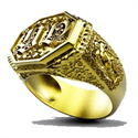 Picture of Bespoke Man ring, your initials & Zodiac sign
