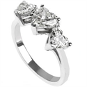 Picture of Three hearts diamond ring