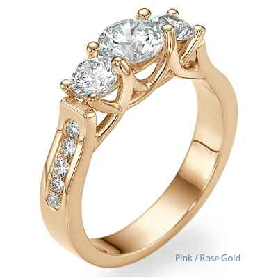 New Crisscross three stones ring for Roundds & Princess