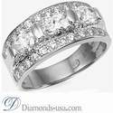 Picture of Designers three stones oval diamond ring