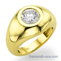 Picture of Men ring for round diamonds