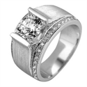 Picture of Man ring with side diamonds