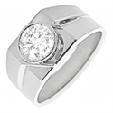 Picture of Bezel set Man diamond ring