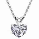 Picture of Solitaire Pendant for Heart shaped diamonds