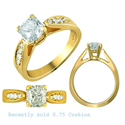 Picture of Designers side diamonds engagement ring settings