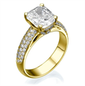 Picture of 4 mm pave set 0.60 carat,engagegmenrt ring