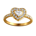 Picture of Heart diamond engagement ring 0.70 carats