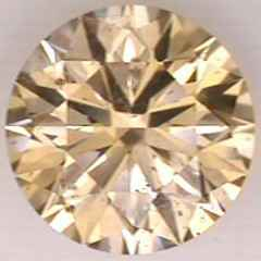 Picture of 0.77 Carats, Round Diamond with Ideal Cut, Fancy Yellow Color, SI1 Clarity and Certified By EGS/EGL