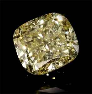 Picture of 1.19 Carats, Cushion Diamond with Very Good Cut, Fancy Yellow Color, SI2 Clarity and Certified By EGS/EGL