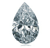 Picture of pear shaped diamond