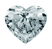 Picture of heart shaped diamond