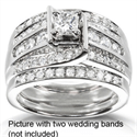 Picture of Engagement ring with 1.52 carat side diamonds