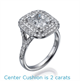 Picture of Double Halo Engagement ring, 0.70 carat diamonds