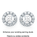 Picture of Diamonds Halo earring Jacket 0.71 carats