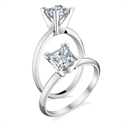 Picture of Princess solitaire engagement ring settings