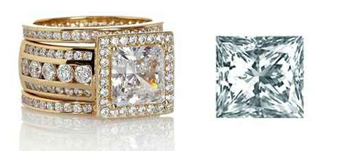 Pictures of princess cut diamonds