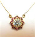 Picture of Halo Red Rubies pendant-The Sun