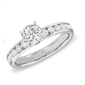 Picture of  0.75 carat channel set side diamonds engagement ring