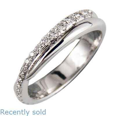 The Flowing -Wedding or anniversary ring with side diamonds