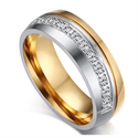 Picture of  6mm Duo Wedding bands with 0.30 carat diamonds TW