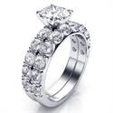 Picture of 1.45 carat side stones bridal rings set