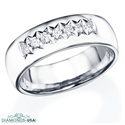 Picture of 1/3 carat 7 mm 7 diamonds wedding band