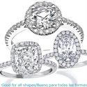 Picture of Classic Halo engagement ring for all shapes,with 1/4 carat side diamonds