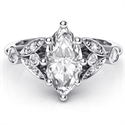 Picture of Victorian style Marquise engagement ring,