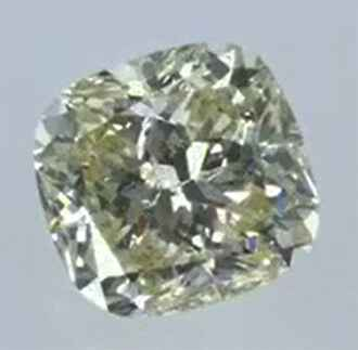 Picture of 0.78 Carats, Cushion Diamond with Very Good Cut, Natural Fancy Yellow Color, VS1 Clarity and Certified By EGS/EGL