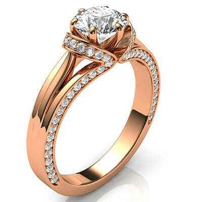 The lips, Vintage style engagement ring